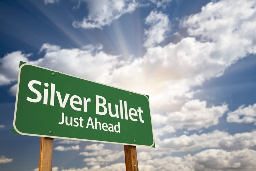 Silver bullet just ahead (c) feverpitched / 123RF Stock Photo