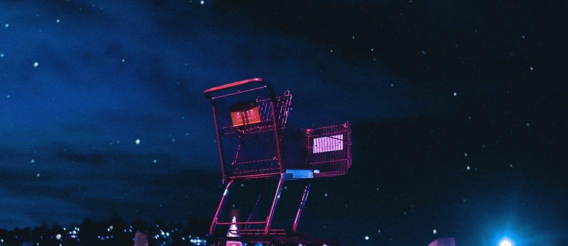 midnight shopping cart