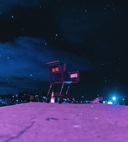 midnight shopping cart